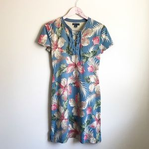 American Living Tropical Floral Hibiscus Dress M